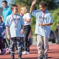 Kids with award medals